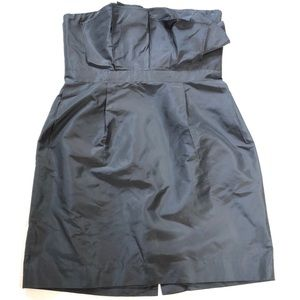 J. Crew 100% Silk Black Strapless Dress 37958 12